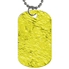 Thick Wet Paint F Dog Tag (two Sides) by MoreColorsinLife