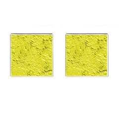 Thick Wet Paint F Cufflinks (square) by MoreColorsinLife