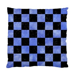 Square1 Black Marble & Blue Watercolor Standard Cushion Case (one Side) by trendistuff