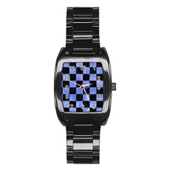 Square1 Black Marble & Blue Watercolor Stainless Steel Barrel Watch