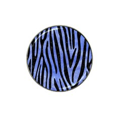 Skin4 Black Marble & Blue Watercolor Hat Clip Ball Marker (10 Pack) by trendistuff