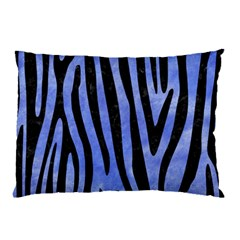 Skin4 Black Marble & Blue Watercolor Pillow Case by trendistuff