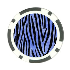 Skin4 Black Marble & Blue Watercolor Poker Chip Card Guard (10 Pack) by trendistuff