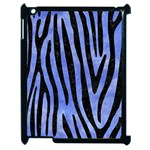 SKIN4 BLACK MARBLE & BLUE WATERCOLOR Apple iPad 2 Case (Black) Front