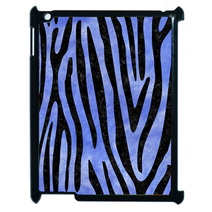 SKIN4 BLACK MARBLE & BLUE WATERCOLOR Apple iPad 2 Case (Black)