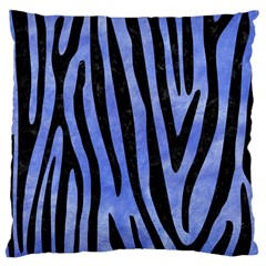 Skin4 Black Marble & Blue Watercolor Large Cushion Case (two Sides) by trendistuff