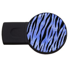 Skin3 Black Marble & Blue Watercolor (r) Usb Flash Drive Round (4 Gb)