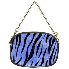 Skin3 Black Marble & Blue Watercolor (r) Chain Purse (one Side) by trendistuff