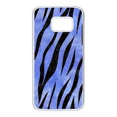 Skin3 Black Marble & Blue Watercolor (r) Samsung Galaxy S7 White Seamless Case by trendistuff