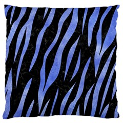 Skin3 Black Marble & Blue Watercolor Large Cushion Case (one Side) by trendistuff