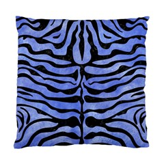 Skin2 Black Marble & Blue Watercolor (r) Standard Cushion Case (two Sides) by trendistuff