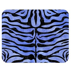 Skin2 Black Marble & Blue Watercolor (r) Double Sided Flano Blanket (medium) by trendistuff