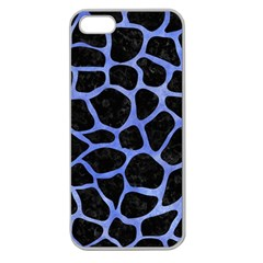 Skin1 Black Marble & Blue Watercolor (r) Apple Seamless Iphone 5 Case (clear) by trendistuff