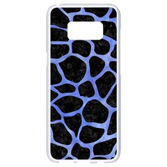Skin1 Black Marble & Blue Watercolor (r) Samsung Galaxy S8 White Seamless Case by trendistuff