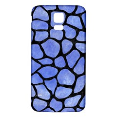 Skin1 Black Marble & Blue Watercolor Samsung Galaxy S5 Back Case (white) by trendistuff