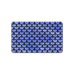 Scales3 Black Marble & Blue Watercolor (r) Magnet (name Card) by trendistuff