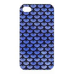 Scales3 Black Marble & Blue Watercolor (r) Apple Iphone 4/4s Premium Hardshell Case by trendistuff