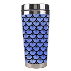 Scales3 Black Marble & Blue Watercolor (r) Stainless Steel Travel Tumbler by trendistuff