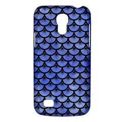 Scales3 Black Marble & Blue Watercolor (r) Samsung Galaxy S4 Mini (gt I9190) Hardshell Case  by trendistuff