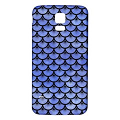 Scales3 Black Marble & Blue Watercolor (r) Samsung Galaxy S5 Back Case (white) by trendistuff