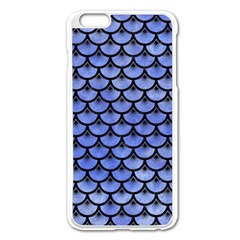 Scales3 Black Marble & Blue Watercolor (r) Apple Iphone 6 Plus/6s Plus Enamel White Case by trendistuff