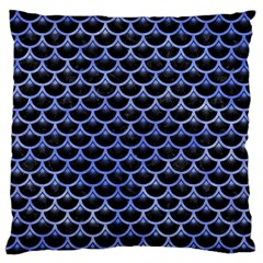 Scales3 Black Marble & Blue Watercolor Standard Flano Cushion Case (one Side) by trendistuff