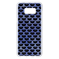 Scales3 Black Marble & Blue Watercolor Samsung Galaxy S8 Plus White Seamless Case by trendistuff