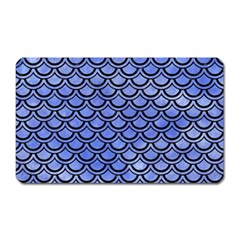 Scales2 Black Marble & Blue Watercolor (r) Magnet (rectangular) by trendistuff