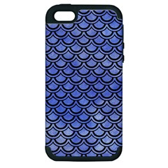 Scales2 Black Marble & Blue Watercolor (r) Apple Iphone 5 Hardshell Case (pc+silicone) by trendistuff
