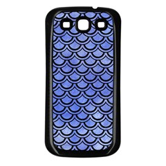 Scales2 Black Marble & Blue Watercolor (r) Samsung Galaxy S3 Back Case (black) by trendistuff