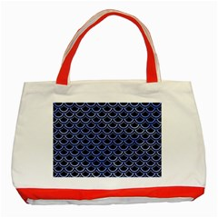 Scales2 Black Marble & Blue Watercolor Classic Tote Bag (red)