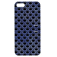 Scales2 Black Marble & Blue Watercolor Apple Iphone 5 Hardshell Case With Stand by trendistuff