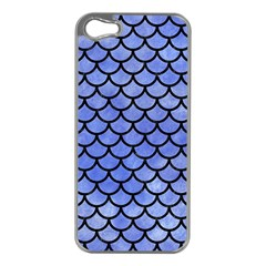 Scales1 Black Marble & Blue Watercolor (r) Apple Iphone 5 Case (silver) by trendistuff