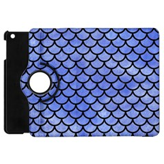 Scales1 Black Marble & Blue Watercolor (r) Apple Ipad Mini Flip 360 Case by trendistuff