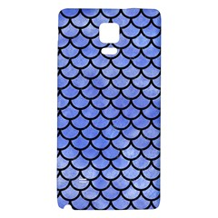Scales1 Black Marble & Blue Watercolor (r) Samsung Note 4 Hardshell Back Case by trendistuff