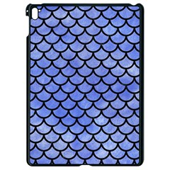 Scales1 Black Marble & Blue Watercolor (r) Apple Ipad Pro 9 7   Black Seamless Case by trendistuff