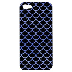 Scales1 Black Marble & Blue Watercolor Apple Iphone 5 Hardshell Case by trendistuff