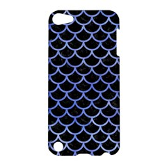 Scales1 Black Marble & Blue Watercolor Apple Ipod Touch 5 Hardshell Case