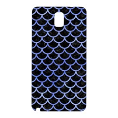 Scales1 Black Marble & Blue Watercolor Samsung Galaxy Note 3 N9005 Hardshell Back Case by trendistuff