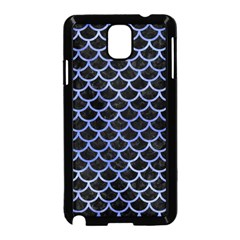 Scales1 Black Marble & Blue Watercolor Samsung Galaxy Note 3 Neo Hardshell Case (black) by trendistuff