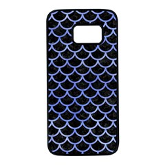 Scales1 Black Marble & Blue Watercolor Samsung Galaxy S7 Black Seamless Case by trendistuff