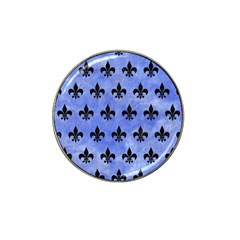 Royal1 Black Marble & Blue Watercolor Hat Clip Ball Marker (10 Pack) by trendistuff