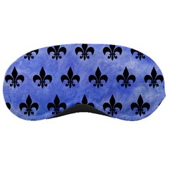 Royal1 Black Marble & Blue Watercolor Sleeping Mask