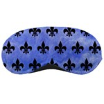 ROYAL1 BLACK MARBLE & BLUE WATERCOLOR Sleeping Mask Front