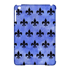Royal1 Black Marble & Blue Watercolor Apple Ipad Mini Hardshell Case (compatible With Smart Cover) by trendistuff