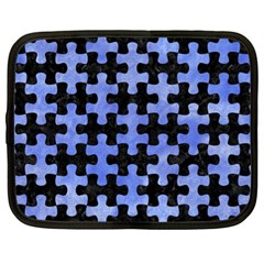 Puzzle1 Black Marble & Blue Watercolor Netbook Case (xl) by trendistuff
