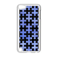 Puzzle1 Black Marble & Blue Watercolor Apple Ipod Touch 5 Case (white) by trendistuff