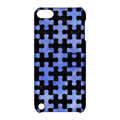 Puzzle1 Black Marble & Blue Watercolor Apple Ipod Touch 5 Hardshell Case With Stand by trendistuff