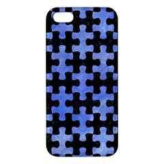 Puzzle1 Black Marble & Blue Watercolor Apple Iphone 5 Premium Hardshell Case by trendistuff