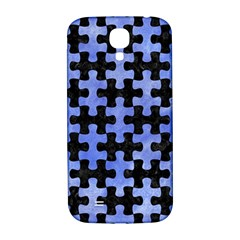Puzzle1 Black Marble & Blue Watercolor Samsung Galaxy S4 I9500/i9505  Hardshell Back Case by trendistuff